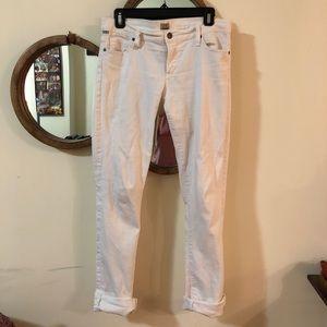 Citizens of Humanity white denim boyfriend jeans